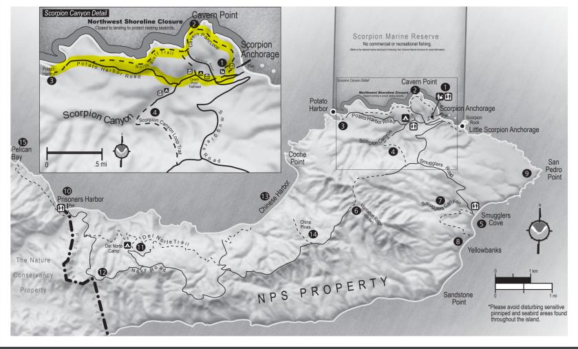 Santa Cruz Hike Route Day 1