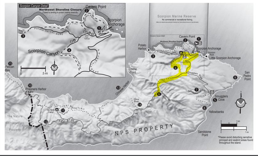 Santa Cruz Hike Route Day 2